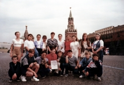Russia - Teenagars group before departure to the UK