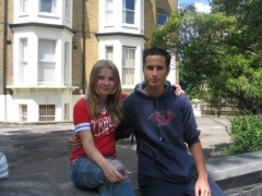 Select English London, Ryabkova with boyfriend